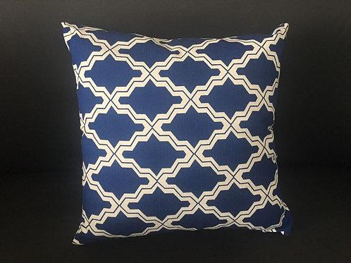 Almofada Geometrica Encaustic Azul e Branca