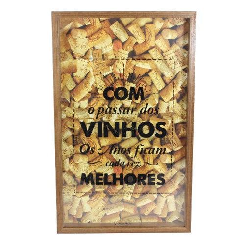 """Quadro Coleções """"Vinhos Melhores"""""""
