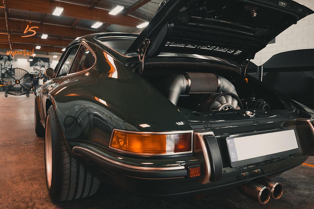 Singer Vehicle Design Green Porsche 911