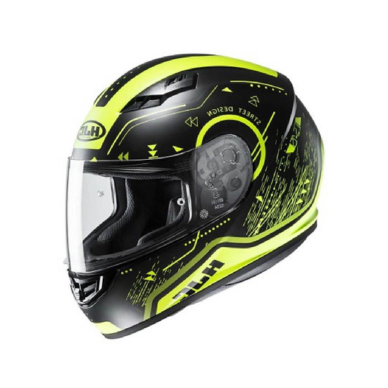 CASCO HJC CS15 SAFA NEG AMARILLO