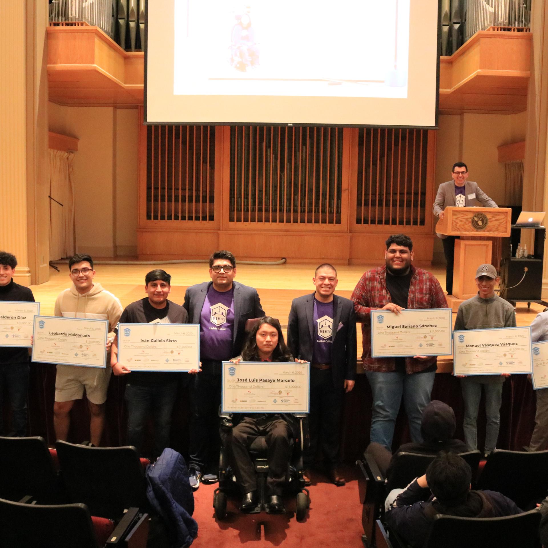 Scholarship recipients group