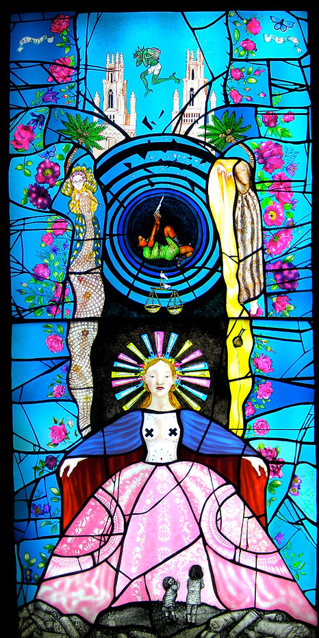 Stained Glass by Scottish artist Pinkie Maclure