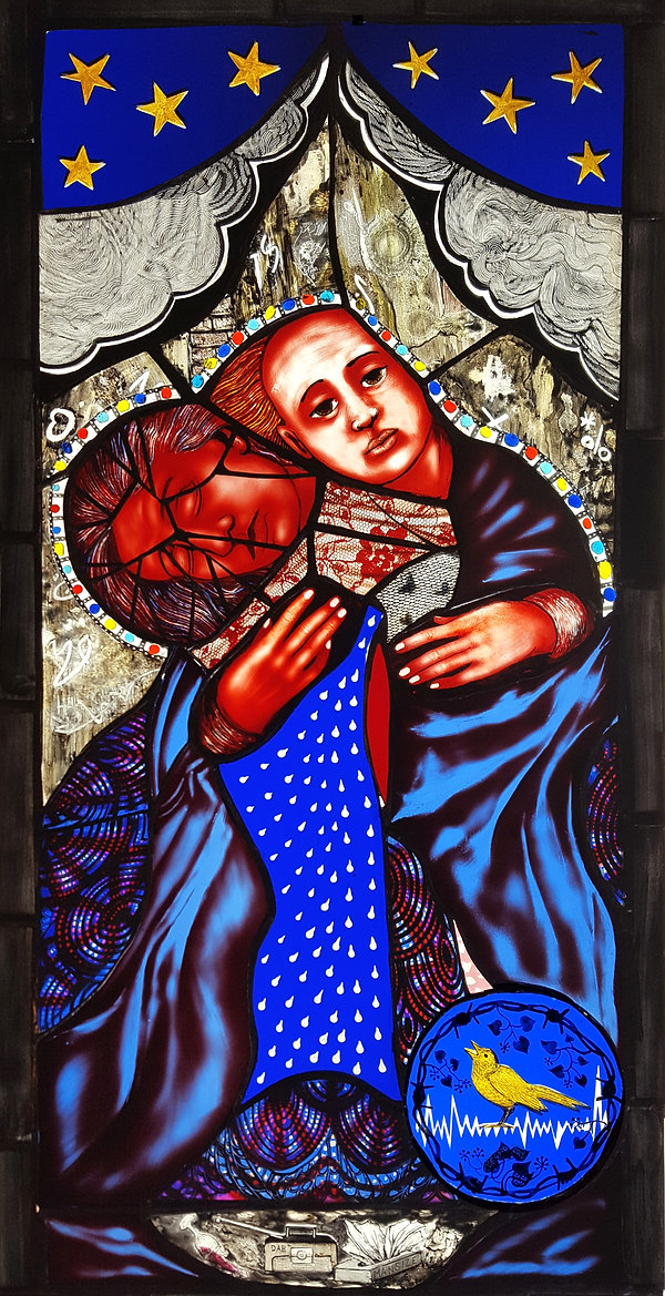 Male Tears Stained Glass