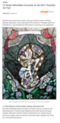 Outsider Art Fair Henry Boxer Pinkie Maclure Stained Glass Artnet