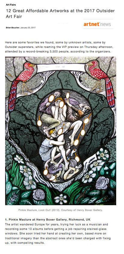 Outsider Art Fair Henry Boxer Pinkie Maclure Stained Glass Artnet