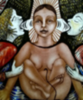 Contemporary stained glass by Pinkie Maclure UK glass artist