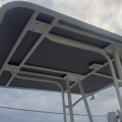 Stainless steel T-top & Rod Holder
