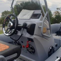 Loredan steering on a  Highfield Club 530