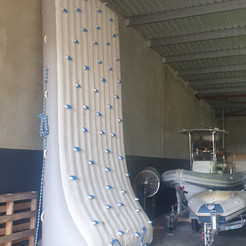 Inflatable climbing wall repair