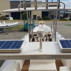 Custom made solar panel for a customer's RIB