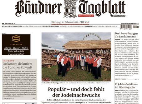 Medienbericht Jodeln in Graubünden