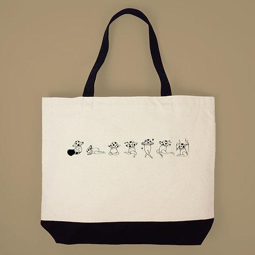 菇菇的一週-帆布購物袋
