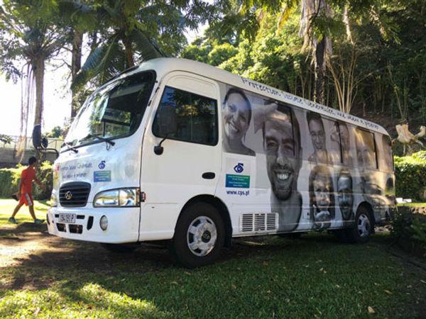 Bus de la Caisse de Prévoyance Sociale en Polynésie