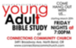 YOUNG ADULT BIBLE STUDY ANNOUNCEMENT - f
