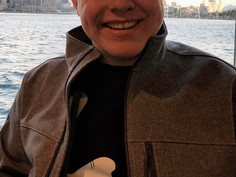 Patrick on the dinner cruise
