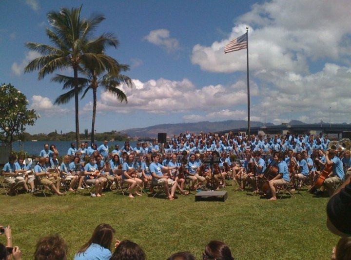 Performing in Pearl Harbor