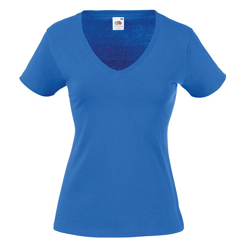 FRUIT OF THE LOOM WOMENS V-NECK TEE