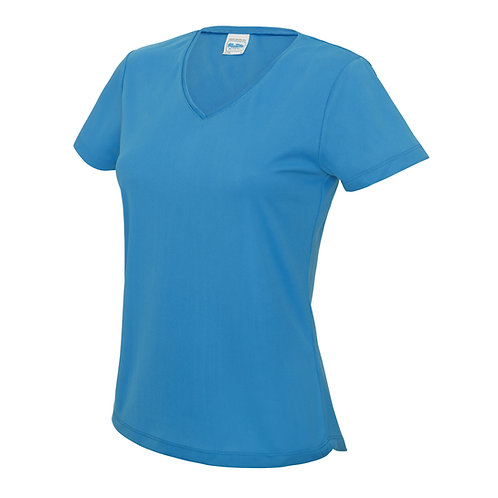 AWD WOMENS V-NECK COOL TEE