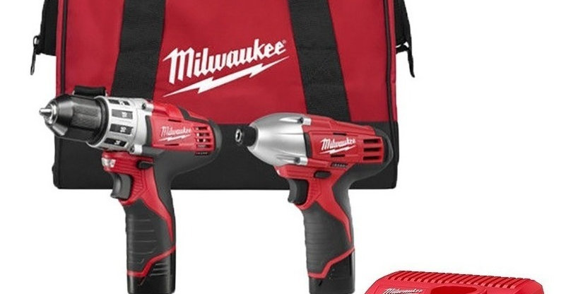 Taladro Atornillador Milwaukee 12 Volt Litio-ion Kit Combo