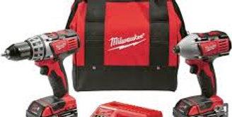 Taladro Y Atornillador Milwaukee 18v Litio-ion Kit Combo