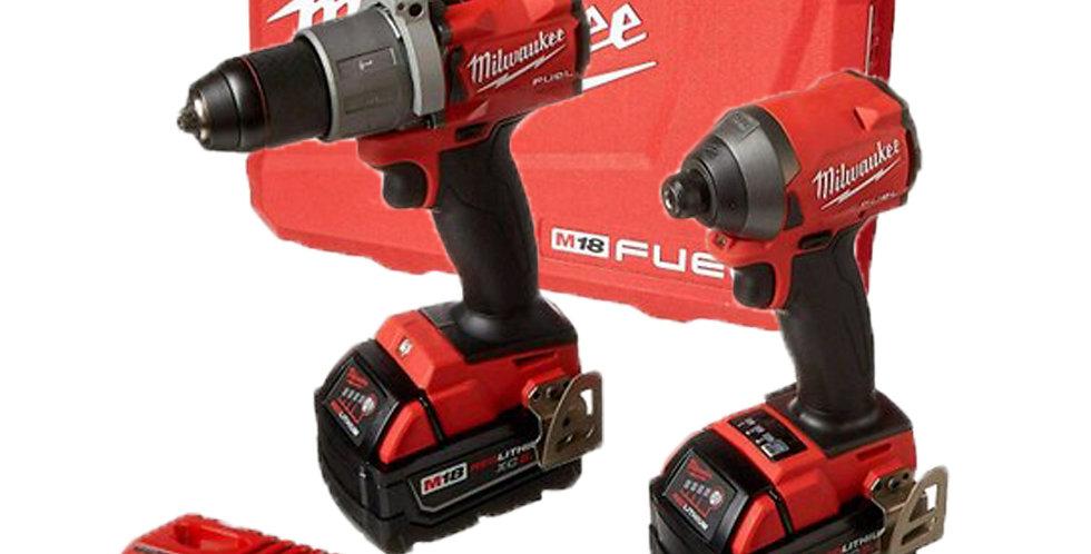 Taladro Percutor Y Atornillador Milwaukee 18v Fuel 2 Bat 3.0