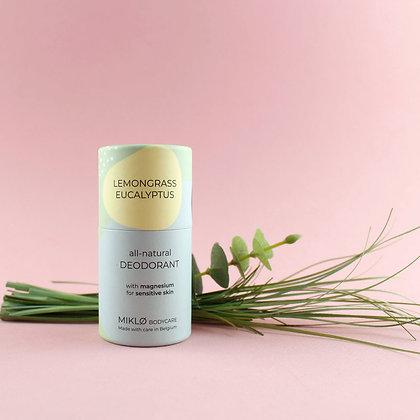MIKLO: Natural deodorant with magnesium and zinc. Lemongrass & Eucalyptus