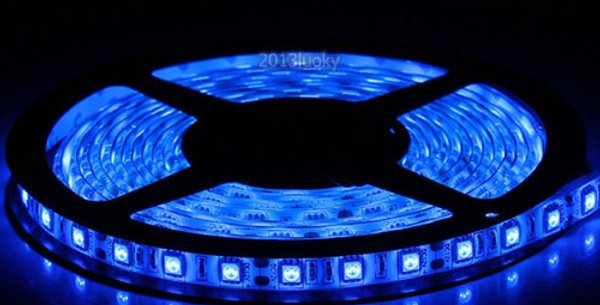Tira Led Azul (60 Led Por Metro) 5050 P/intemperie
