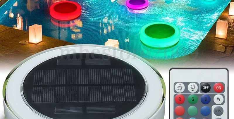 Lampara solar  piscina   RGB LED
