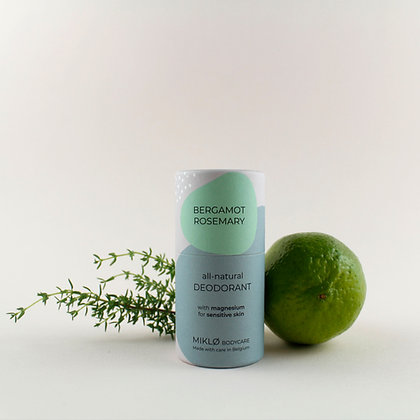 MIKLØ Bergamot &  Rosemary natural deodorant with magnesium