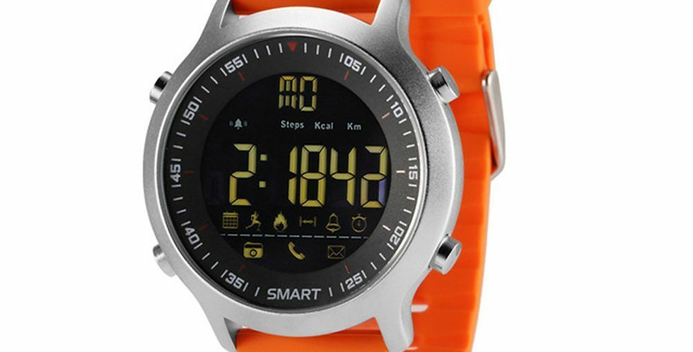 Reloj Inteligente Smartwatch Ex18 Color Naranja Silicona