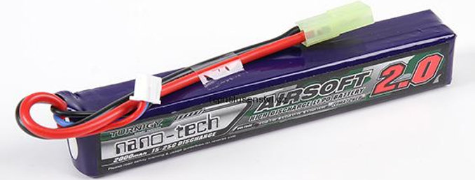 Bateria 7.4v 2000 Mah Turnigy Airsoft 2.0