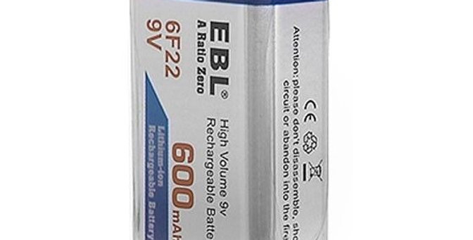 Bateria Recargable Ebl 9v 600 Mah