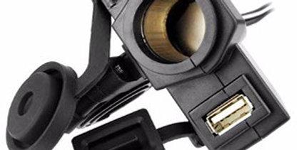 Encendedor Cargador Para Moto 12 Volt Mas Usb