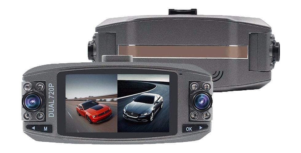 Camara Filmadora Auto Vehiculo Hd F80 Doble Lente