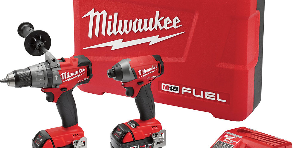 Taladro Percutor Y Atornillador Milwaukee 18v Fuel 2 Bat 4a