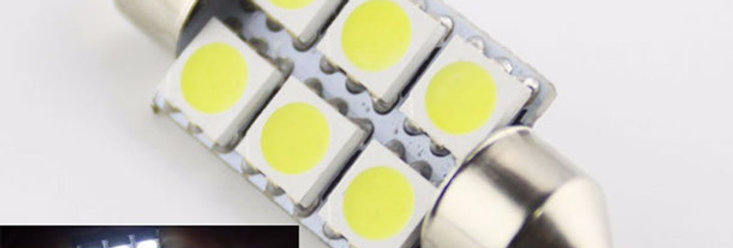 Luz Led Para Plafón Interior para auto 6 Leds