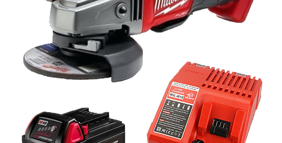 Amoladora Milwaukee 4 1/2 18v Fuel + Bat 3a Cargador