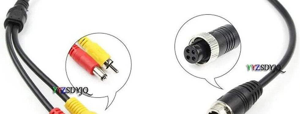Cable Conector Camara Reversa 4 Pin Rca Y Jack