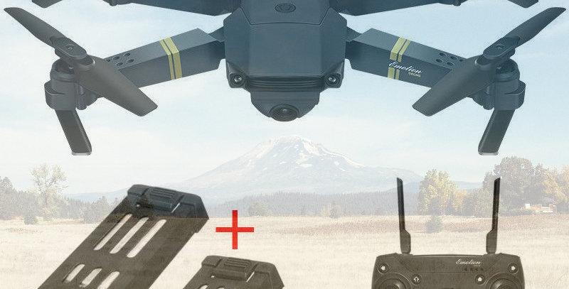 Drone Quadcoptero X Pro E58 Con 2 Baterias