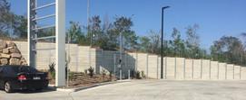 3.2 High Plain Grey Concrete Sleeper wall