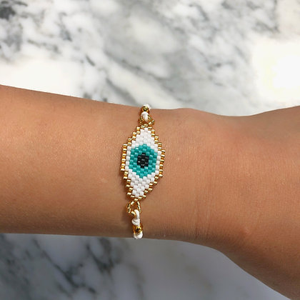 Miyuki Evil Eye Bracelet