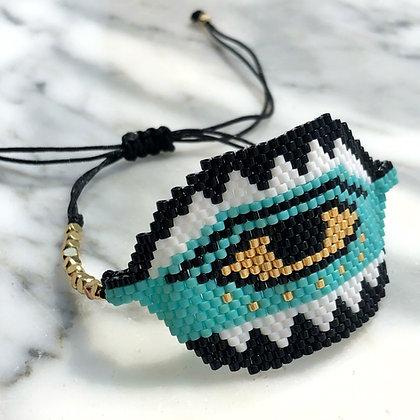 Miyuki Evil Eye Big Bracelet