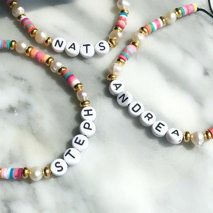 Candy name bracelet