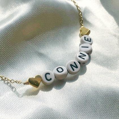 Black & White Name Necklace