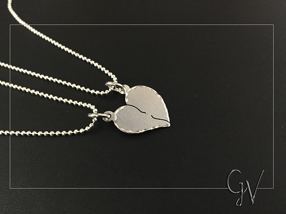 Par Half Heart Necklace