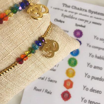"7 chakras bracelet ""OM"""