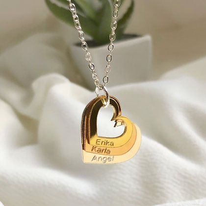 Name Hearts Necklace
