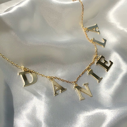 Initial name necklace
