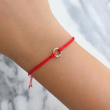 Golden circle bracelet 10k