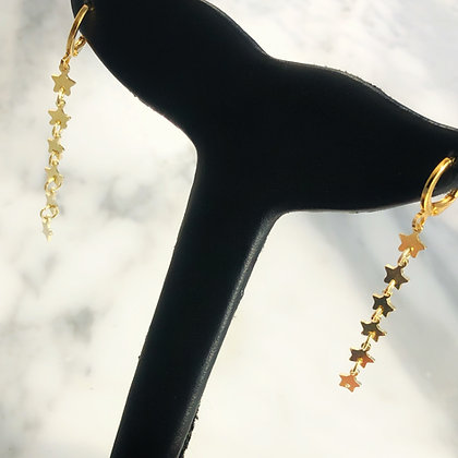 Long stars earrings